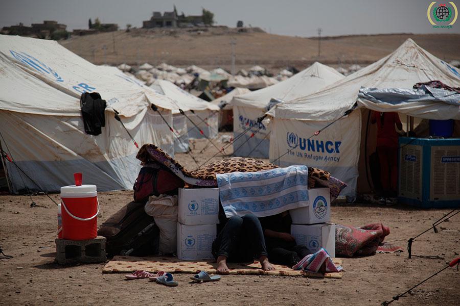 Syrische Flüchtlinge im Flüchtlingslager Kawrgosk, Nordirak © IHH Humanitarian Relief Foundation, CC BY-NC-ND 4.0, flickr.com
