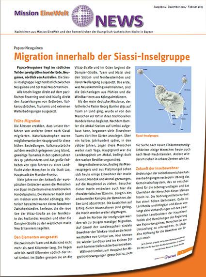 Migration innerhalb der Siassi-Inselgruppe