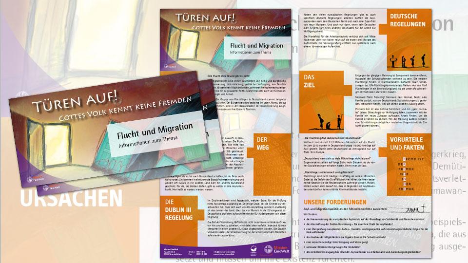 Infoflyer zu Flucht und Migration