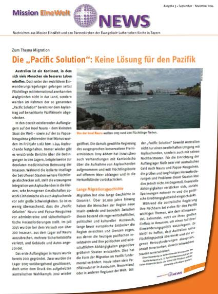 "Die ""Pacific Solution"""